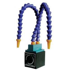 Шланги для подачи СОЖ с магнитным основанием KMS 2 optimum maschinen фото Два сменных шланга для подачи СОЖ из отдельных пластиковых сегментов Не проводят электрический ток